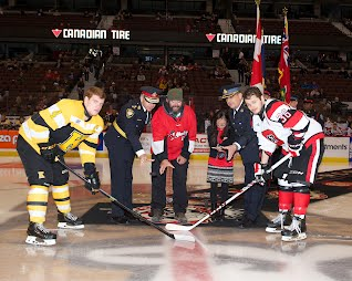 Puck drop Big Ticket 67's game 2013