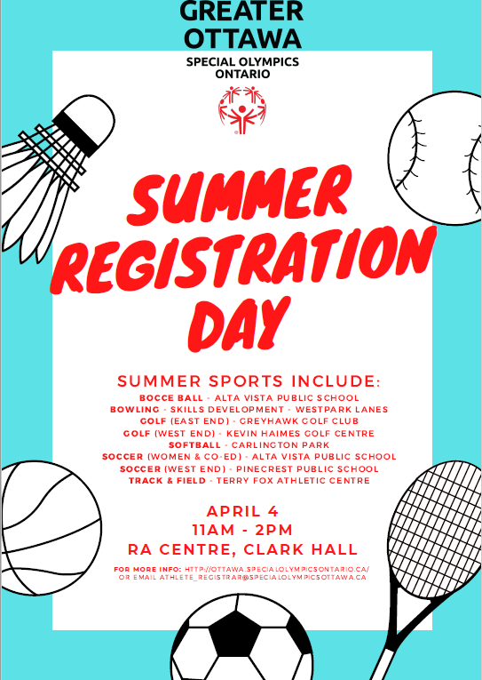 Summer registration poster